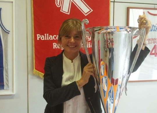 Maria Licia  Ferrarini  con la Supercoppa Italiana.