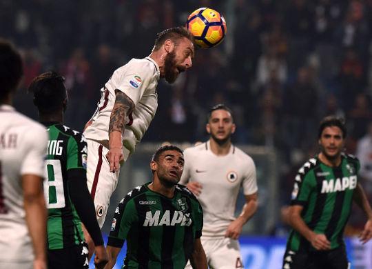 Sassuolo-Roma 1-3. De Rossi