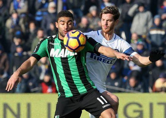 Gregoire Defrel in azione durante Sassuolo-Inter