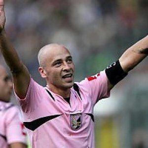 Eugenio Corini con la maglia del Palermo nel 2005