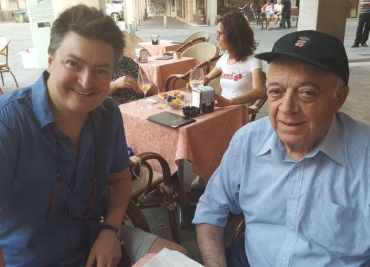 Vanni con Romano Munari, ex accompagnatore della Reggiana