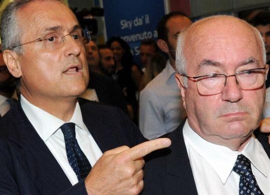 Claudio Lotito con Carlo Tavecchio (tuttosport.com)