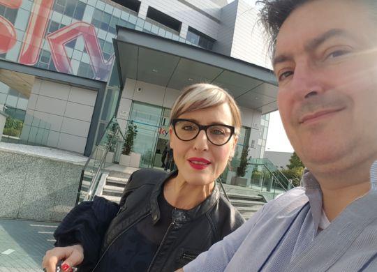Vanni con Lia Capizzi di Sky