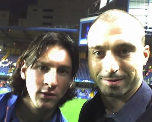Alessandro Iori con Leo Messi