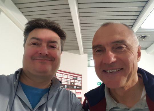Vanni con Leonardo Menichini, allenatore della Reggiana