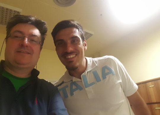 Con Marco Di Vicino