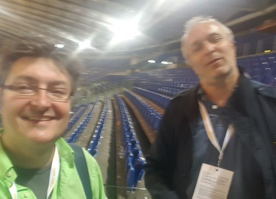 Con Franco Bragagna, all'Olimpico