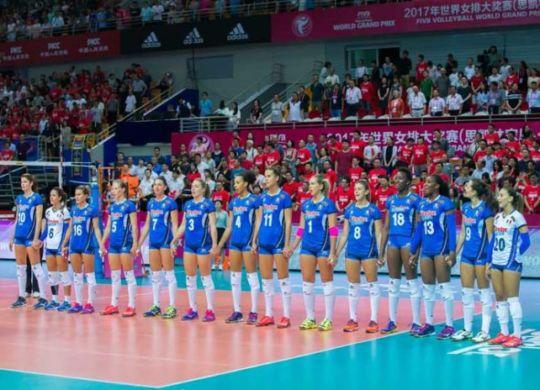 La formazione dell'Italia schierata (volleyball.it)