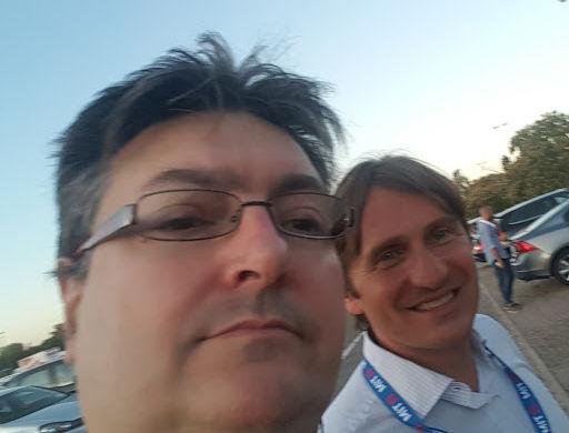 Con Antonio Santamaria, direttore di Mastergroup sport