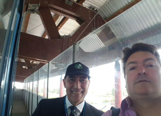 Con Roberto Trapani, speaker, radio Bruno