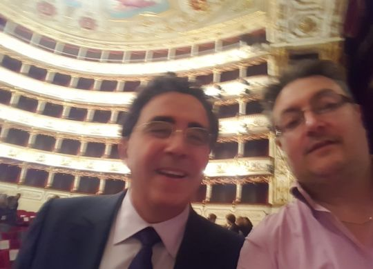 Con Santiago Calatrava