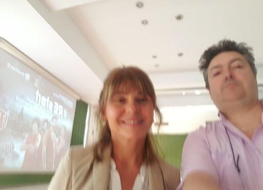 Con Maria Licia Ferrarini