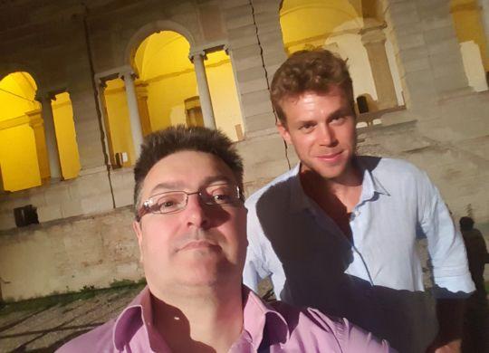 Con Roberto Casoli