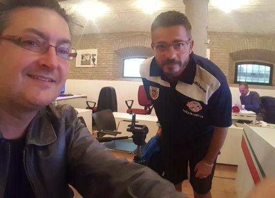 Con Massimiliano La Rosa allenatore della Reggiana
