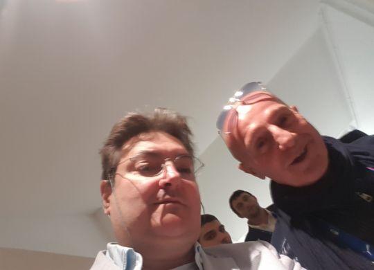 Con Arrigo Sacchi
