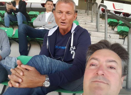 Con Marcello Montanari ex allenatore della Reggiana