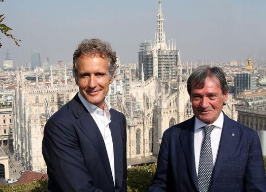 Flavio Roda con Alessandro Benetton (giancarlo colombo)