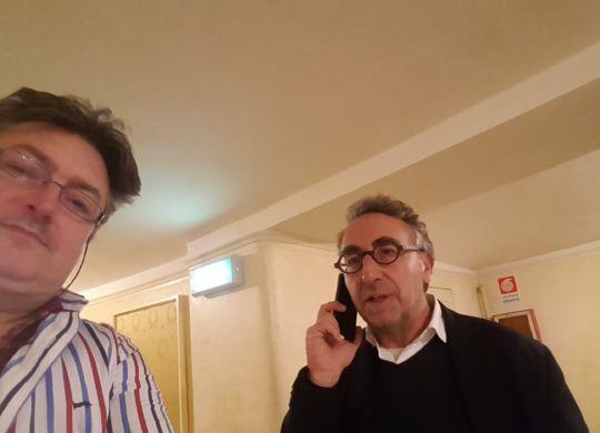 Con Gabriele Majo