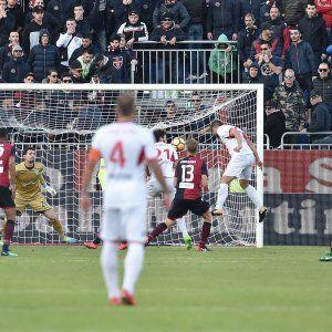 Il gol decisivo di Bassoli per il Pordenone (lapresse)