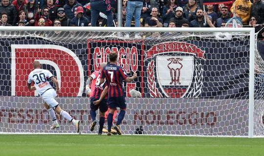 Il gol di Rigoni oggi allo Scida (ilsecoloxix.it)