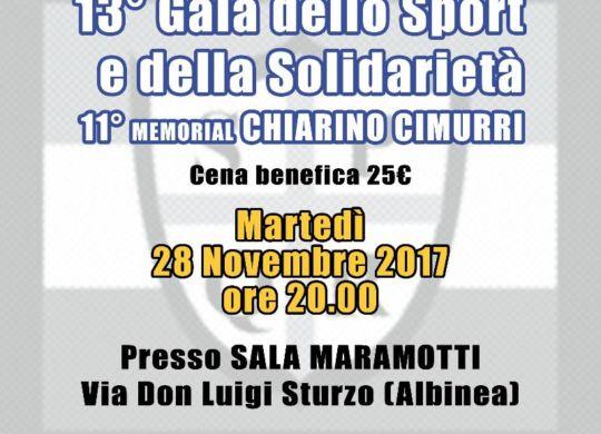 La locandina del 13esimo Galà dello Sport e della Solidarietà