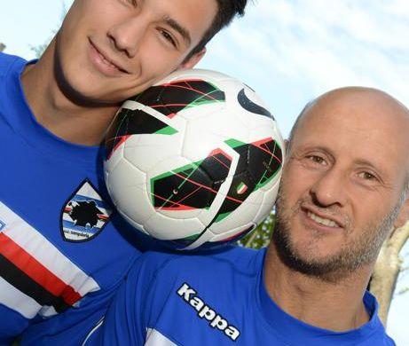 Mattia Lombardo con il papà Attilio (ilsecoloxix.it)
