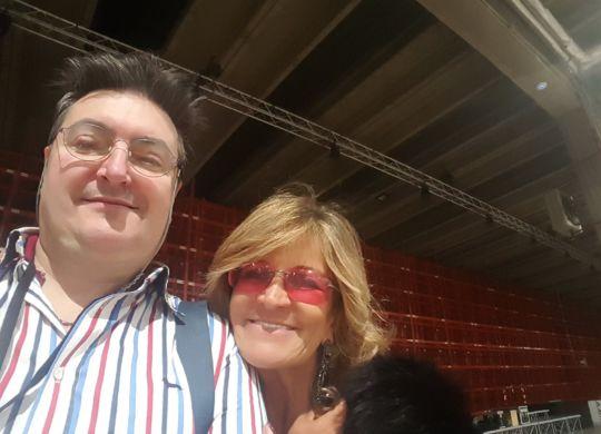 Con Manuela Ronchi ex manager di Pantani