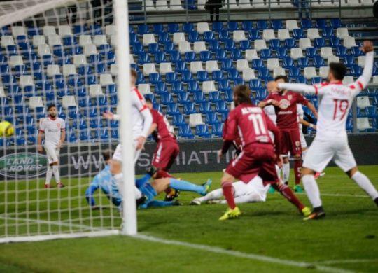 Il gol di Bovo (Labate per Reggionline)