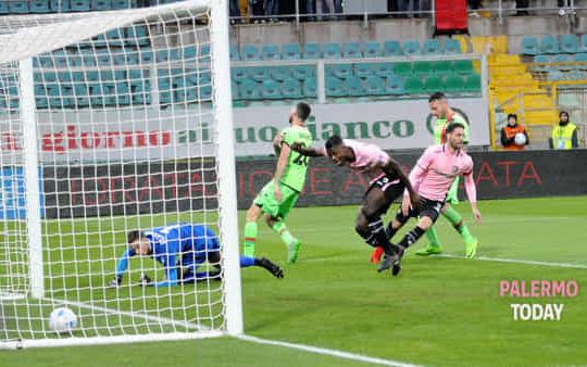 Il gol di Rispoli (Fucarini/palermotoday.it)