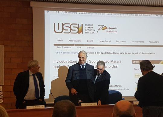 Il commissario straordinario della Lega di serie A Malagò al seminario annuale dell'USSI