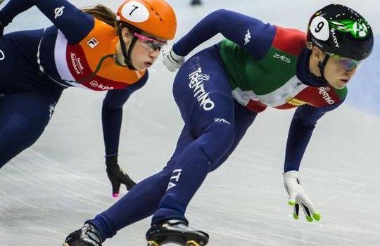 Arianna Fontana nella finale dei 1000 metri (immagini.quotidiano.net/ansa)
