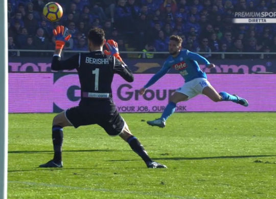 Il gol di Mertens (calcionapoli1926.it)