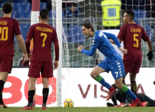 Missiroli esulta dopo il gol alla Roma (corrieredellosport.it)
