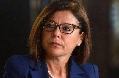 Paola De Micheli, presidente della Lega volley (legavolley.it)