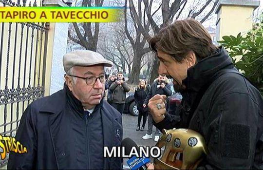 La consegna del Tapiro a tavecchio (gazzetta.it/mediaset)