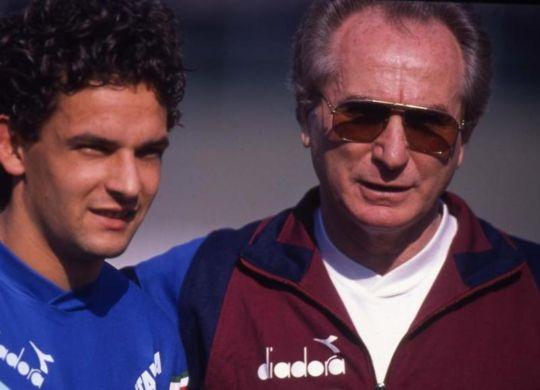 Azeglio Vicini con Roberto Baggio (lastampa.it)