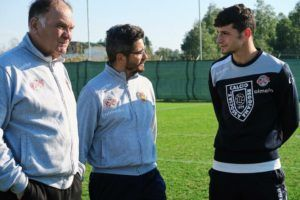 Luca Vignali con mister Eberini e La Rosa (reggionline.com)