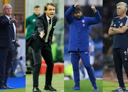 Ranieri, Mancini, Conte e Ancelotti, uno di loro sarà il nuovo ct (calciomercato.com)