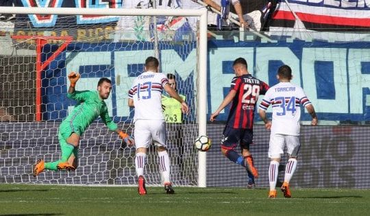 Trotta ha segnato una doppietta contro la Samp (repubblica.it)