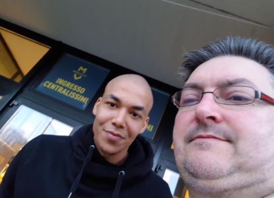 Con Abdel Aziz, di Milano, volley