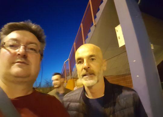 Con Stefano Pioli