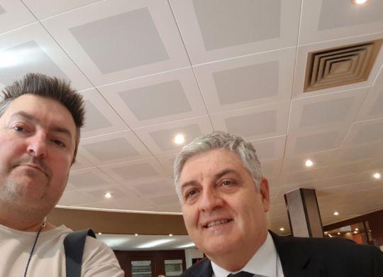 Con Beppe Cormio ds della Lube