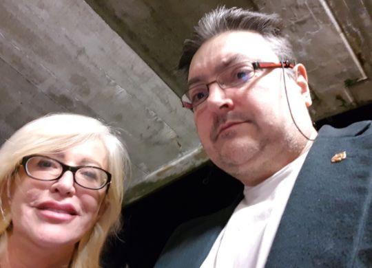 Con Catia Pedrini, presidentessa di Modena volley