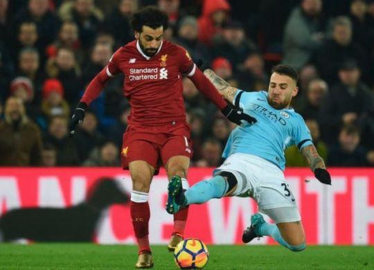 Mohamed Salah ha segnato la prima rete della gara (sport.sky.it)