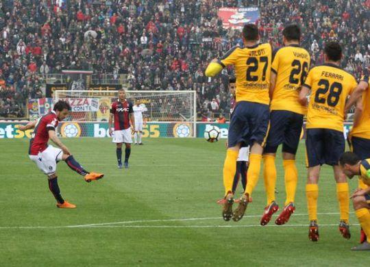 Il gol di Verdi (Giorgio Benvenuti/ansa)