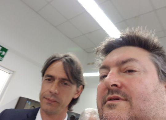 Con Pippo Inzaghi