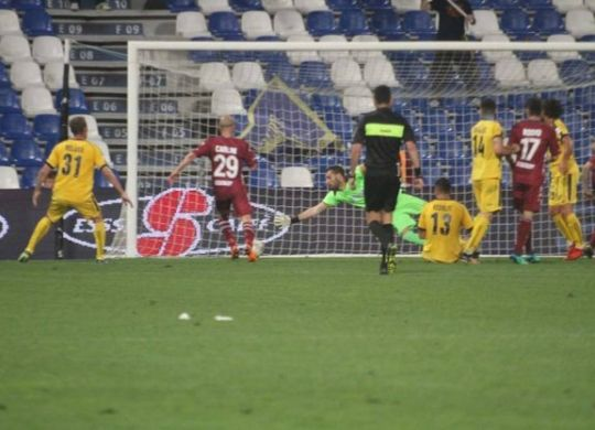 Il gol della Reggiana (immagini.quotidiano.net/Artioli)