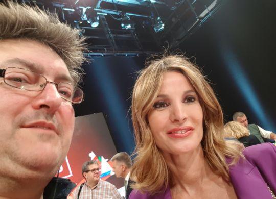 Con Mikaela Calcagno