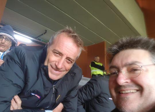 Con Stefano De Grandis