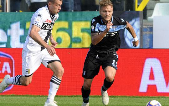 Ciro Immobile ha segnato il primo gol oggi al Tardini (ilmessaggero.it)